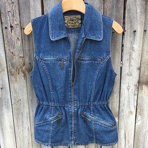 Liz Claiborne Vintage Denim Vest XS